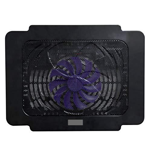 CandyTT K16 Base de radiador para computadora portátil Ventilador de refrigeración para computadora Soporte de 14 Pulgadas Plástico endurecido Resistente a la presión Extraíble (Negro)