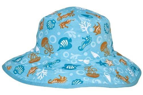 chapeau de soleil bébé bleu 0-2 ans