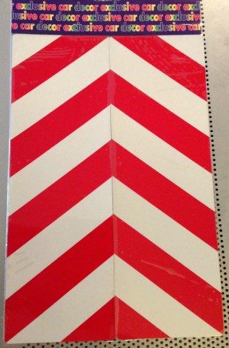 Folie 2x Warntafel reflektierende rot/weiß Streifen 30x 10cm