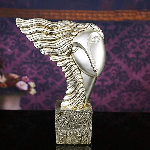 DAMAI STORE Resin Handwerk Im Europäischen Stil Wohnaccessoires Großhandel Kreativer Abstrakter Schönheit Haarschmuck (34 * 10 * 47cm)