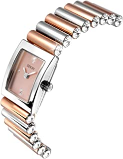Seksy by Sekonda Edge Two Tone Stone Set Bracelet Watch 2867