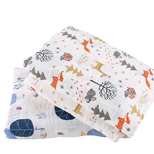 Cincobebé Muselinas para Bebé,Suaves,Flexibles y Bonitas,de 100% Algodón,120cm x 120 cm,Pack de...