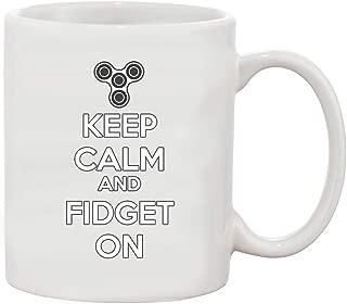 Keep Calm and Fidget On White Coffee Mug (White, 11 oz)