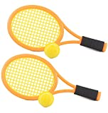 Kids Tennis Racket Set with Ball,Plastic Tennis Racquet Toys for Toddler or Child (Age 3-5...