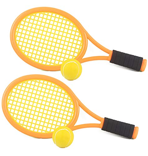 Kids Tennis Racket Set with Ball,Plastic Tennis Racquet Toys...