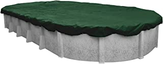 Pool Mate 321218-4-PM Heavy-Duty Winter Oval Above-Ground Pool Cover, 12 x 18-ft, Grass Green