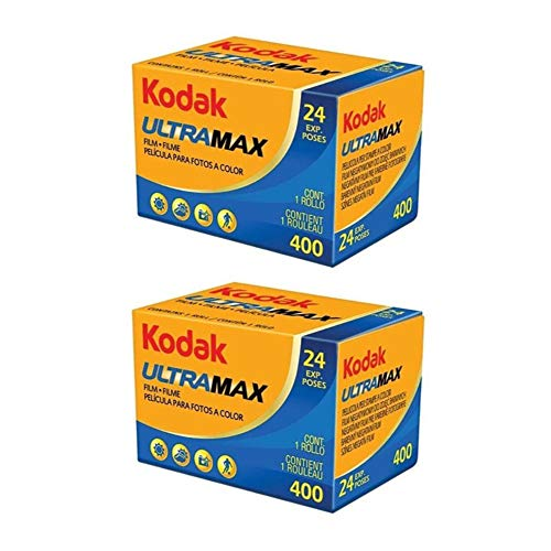 Kodak Ultramax 400 Color Negative Film (ISO 400) 35mm 24-Exposures - 2 Pack (2 Items)