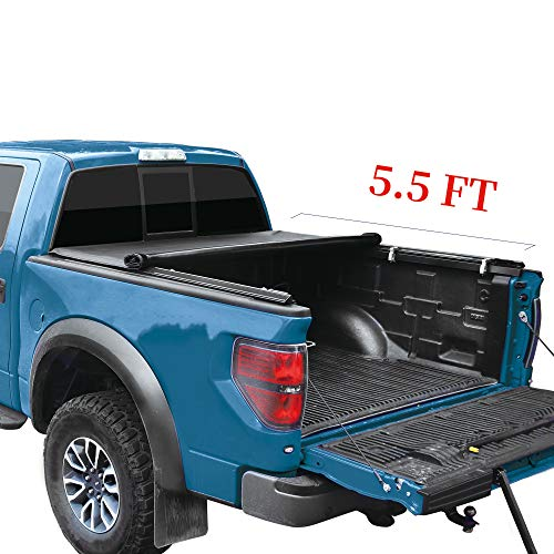 YITAMOTOR Soft Roll Up Truck Bed Tonneau Cover Compatible with 2015-2020 Ford F150, Styleside 5.5 ft Bed