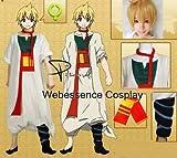 コスプレ衣装 マギ MAGI アリババ・サルージャ 衣装+ウィッグ風 コスチューム オリジナル ブレスレット 付き (購入後の連絡サイズ)