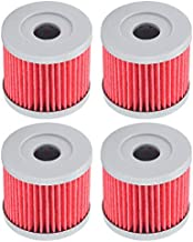 Tvent HF131 131 Oil Filter Replacement for Suzuki 1651005240 DR100 LT125 AN400 (Pack of 4)