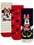 Disney Mädchen Socken Packung mit 3 Minnie Mouse Mehrfarbig 37/40