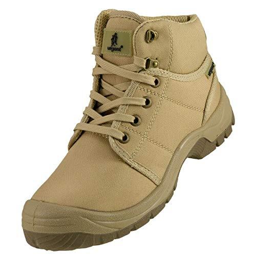 K&G Arbeitsstiefel Urgent 111 S1 BEIGE Arbeitsschuhe Schuhe mit Stahlkappe Gartenschuhe Herrenschuhe Sicherheitsschuhe Stiefel Garten Herren (Numeric_41)