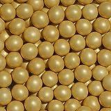 EinsSein 350g Crispy Schokoperlen Schokokugeln Gold Perlglanz Gastgeschenke Hochzeit Hochzeitsmandeln Zuckermandeln Schokomandeln Candy Bar Bonbons Schokotafeln Dragees Taufmandeln Bonboniere
