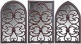 Esschert Design Gartenspiegel, Fensterrahmen mit Spiegel aus Gusseisen, 1 Stück, Sortiert, 28 cm x 44 cm