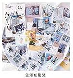 40 pz/lotto Retro Viaggi Vita da caffè Etichetta Note appiccicose Post memo pad Forniture scolastiche per cancelleria Kawaii Carta per adesivi per planner, 3