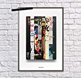 Hunter S Thompson, Collected Works Print Bibliography, Hunter Thompson Fan, Gift, Art, Gonzo Journalism, Fear Loathing In Las Vegas, | Poster No Frame Board For Office Decor, Best Gift For Family And