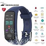 Zeerkeer Orologio da Polso, Seguito da Fitness 0.96 PPG Elettrocardiogramma, Contapassi, Calorie...