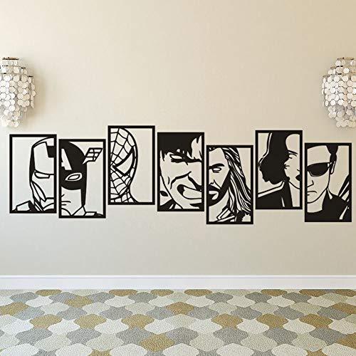 mlpnko Vinyl Aufkleber Wandaufkleber Passt Anime Helden, Home Decoration abnehmbare Wandbild DIY Dekoration, Selbstklebende Tapete abnehmbare Abziehbilder -146x42cm
