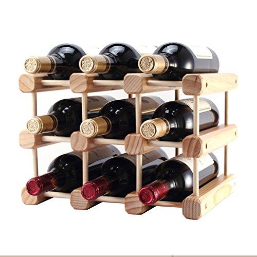LSLS Botellero Vino El Vino Modular De Bricolaje Estante De Madera del Vino De Mesa Rack Práctica Cocina O Barra De Inicio Muy Robusto - Práctico Y Compacto Botellero (Size : #1)