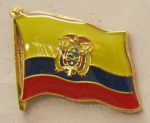 Ecuador Pin Anstecker Flagge Fahne Nationalflagge Flaggenpin Badge Button Flaggen Clip Anstecknadel