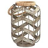 Amazon Brand – Stone & Beam Rustic Farmhouse Metal Jar and Rope...