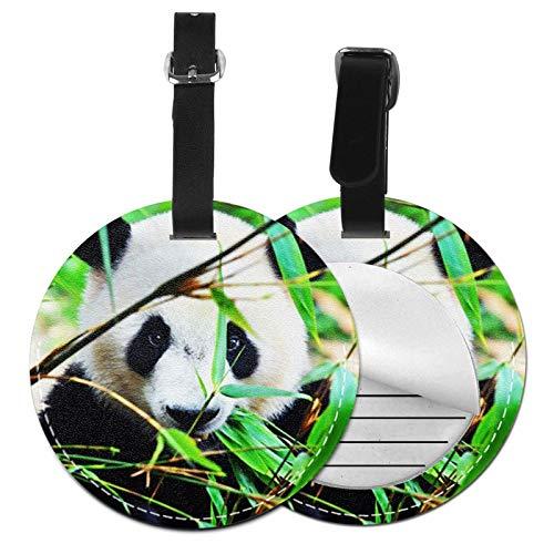 Etiquetas para Equipaje Bolso ID Tag Viaje Bolso De La Maleta Identifier Las Etiquetas Maletas Viaje Luggage ID Tag para Maletas Equipaje Oso Panda Gigante Hambriento