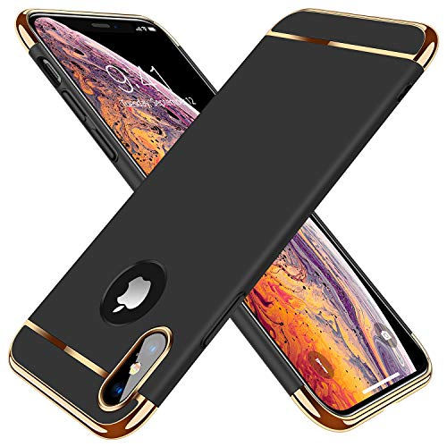 TORRAS Lock Series iPhone X Case, iPhone Xs Case, Thin 3 in 1 Hybrid Hard Plastic Matte Finish Slim Cover Anti-Scratch Phone Case for iPhone Xs/X 5.8', Black