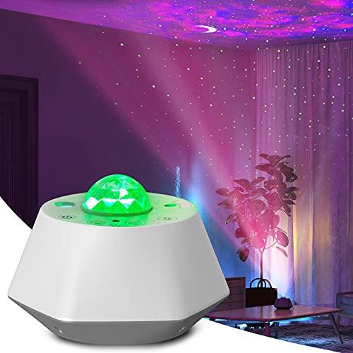 Annwer Proyector LED de cielo estrellado, proyector de luz de estrellas con temporizador, luz nocturna de color blanco para adultos, proyector de luz adecuada para niños / hogar / San Valentín regalos