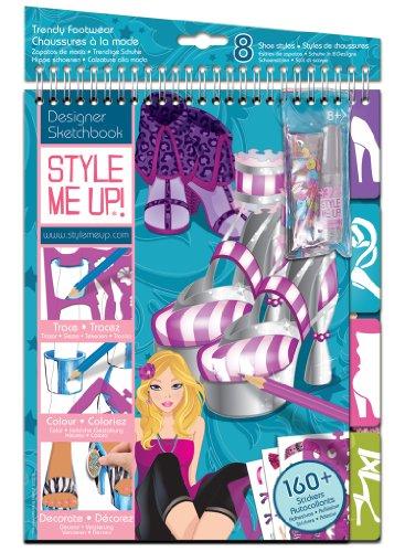 Buki France Style me up! - 1423 - Kit de Loisir Créatif - Carnet d'esquisse - Chaussures