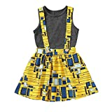 Toddler Baby African Clothes Ethnic Dashiki Style Black T-Shirt Suspender Skirt Set/Jacket Clothes Outfit…