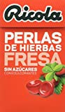Ricola - Perlas de Hierbas Fresa y Menta sin azúcares - 25 g - [Pack de 10]