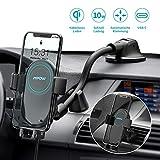 Mpow Kabelloses Auto Ladegerät Handyhalterung,Qi Handyhalter fürs Auto 2 in 1...