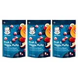 Gerber Fruit & Veggie Melts Freeze-Dried Fruit & Vegetable Snack, Very Berry Blend, 1 ounce, Pack of 3