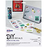 Avery Decals with Surface Safe Removable Adhesive,Water & Tear Resistant, 8.5' x 11', 3 Labels (61512)