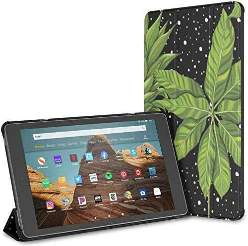 Case for All-New Kindle Fire HD 10 Tablet Case (2019/2017,9th/7th Gen) - Ultra Slim Folding Case with Auto Wake/Sleep,Pine Mango On