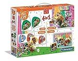 Clementoni - 18047 - Edukit 4 in 1 - 44 Gatti (memo, domino, puzzle 30 pezzi, cubi) - Made in Italy - memory - gioco di memoria e logica, gioco educativo bambini 3 anni, puzzle bambini