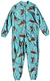 Nick & Nora Women's Sock Monkey Fleece One Piece Zip Front Pajamas