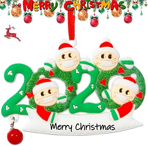 Famiglia Personalizzata Ornamento di Natale 2020 Famiglia Sopravvissuta Appesa di Natale Personalizzata Decorazione Regalo di Natale Fai da Te(4)