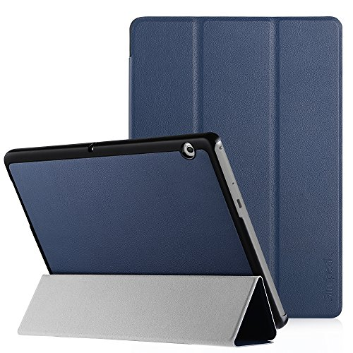 Simpeak Hülle Kompatibel mit Huawei MediaPad T3 10 Zoll, Ultra Dünn Standfunktion Slim Leder Schutzhülle Ideal Geeignet Kompatibel für MediaPad T3 10 - Blau
