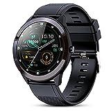 GOKOO Reloj Inteligente Hombres Smartwatch IP68 Impermeable Monitor de Actividad Pulsómetro Spo2 Recordatorio de SMS Reloj de Pulsera portátil para Hombres iOS Android