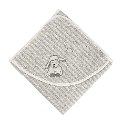 Serviette de Bain Sterntaler Mouton Stanley, Âge : À Partir de 0 Mois, 100 x 100 cm, Gris