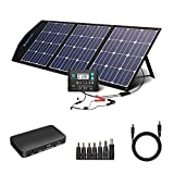 ACOPOWER 120w 12v Portable Solar Panel, Foldable Solar Charger with ProteusX 20A Charge Controller in case
