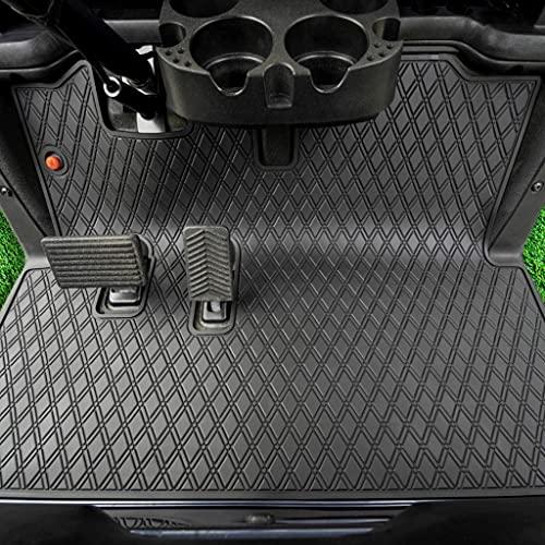 Xtreme Mats EZGO RXV Bodenmatte für Golfwagen, volle Abdeckung, mit Farboptionen, passend für EZGO RXV (ab 2008) und 2Five (ab 2009), Schwarz