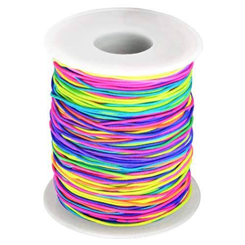 100m Filo Perline Nylon Elastico Fili per Perline Tessuto Thread Bead String Craft Cord Braccialo Collana Braccialetti Macrame Gioielli Fatto a Mano DIY 1 mm