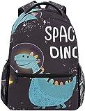 Schulrucksäcke Dinosaurieranzug Fliegen in den Weltraum Schülerrucksack Groß Für Mädchen Kinder...