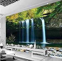 壁紙壁画カスタム3D滝風景大きな壁画リビングルームソファ寝室テレビ背景壁紙家の装飾壁紙-400x280cm