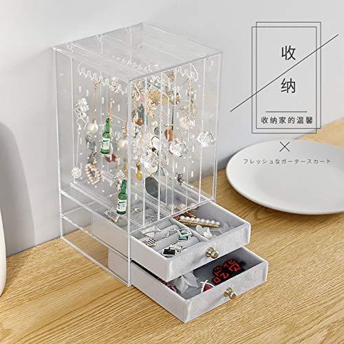 Fasclot Acrylic Earring Jewelry Dust Hanger Transparent Earring Storage Box
