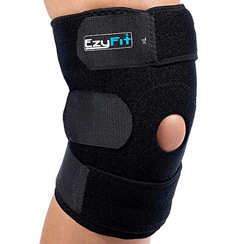 EzyFit Knee Brace Support Dual Stabilizers & Open Patella - Adjustable...