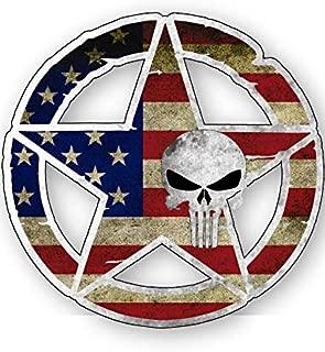 Army Star Punisher Skull Vinyl Decal 4