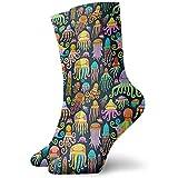 winterwang Niños Niñas Crazy Funny Rainbow Pulpo Calamar Medusa Calcetines Calcetines de vestir de novedad linda